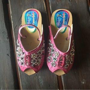 Other - Pink Gem Slingback Sandals